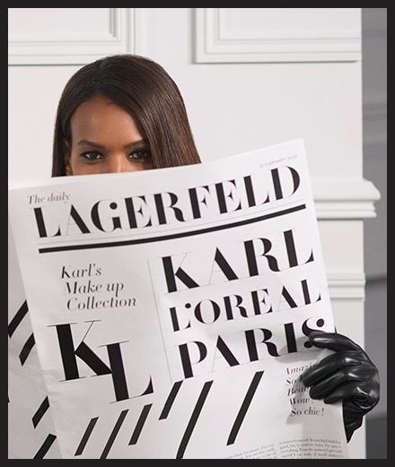 Karl Lagerfeld x L'Oreal Paris, une collab annoncée