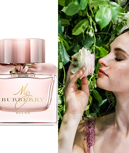 Lily James, nouvelle égérie des parfums My Burberry