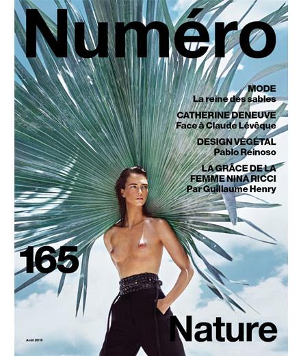 Crista Cober photographiée par Txema Yeste en couverture du Numéro Nature