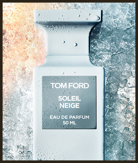 Tom Ford dévoile un parfum inspiré par les pentes enneigées de Courchevel à Megève