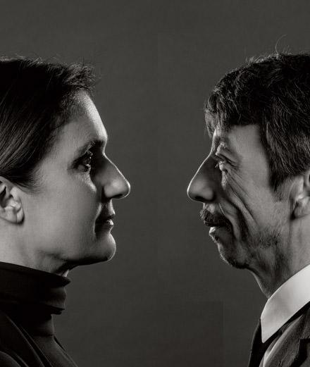 Portrait of Valentino's artistic directors, Maria Grazia Chiuri and Pierpaolo Piccioli