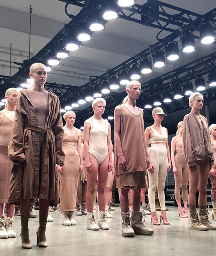 Kanye West presents a Yeezy collection in Paris