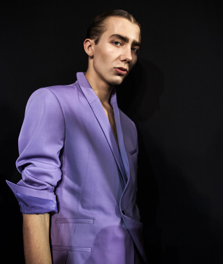 Backstage: Haider Ackermann spring-summer 2018 show photographed by Mehdi Mendas