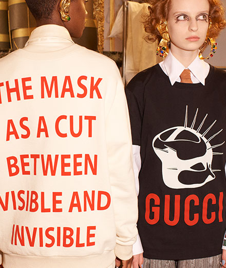 """""""Gucci Manifesto"""" : l'obsession d'Alessandro Michele pour le masque"""