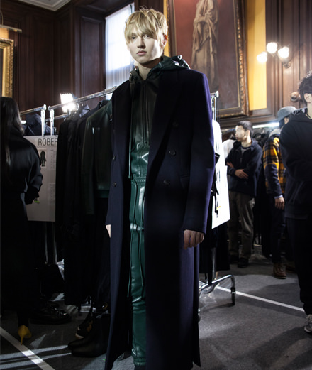 Backstage:  Juun.J fall-winter 2017 show seen by Mehdi Mendas