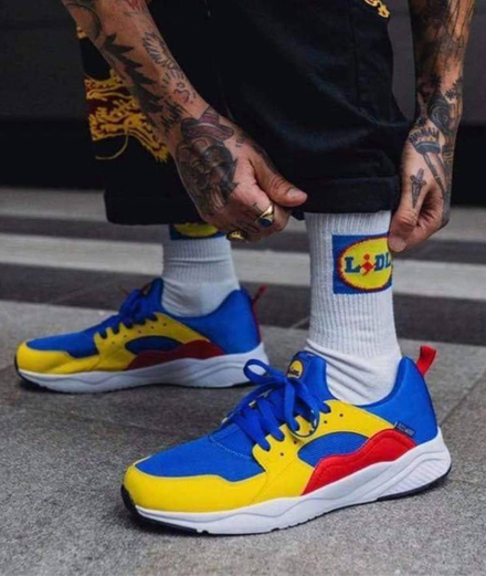 Why are Lidl's sneakers selling over the odds on the internet?