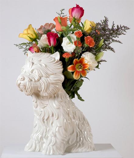 """L'objet du jour : le vase """"Puppy"""" de Jeff Koons"""