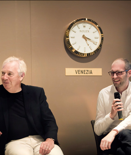 "Rolex introduces its new ""mentor"", star architect David Chipperfield, and his ""protégé"""
