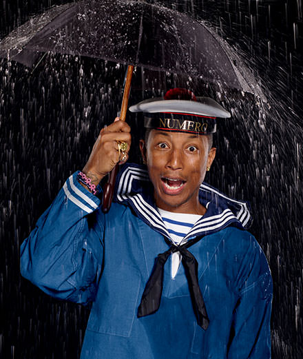 Pharrell Williams photographed by Jean-Paul Goude