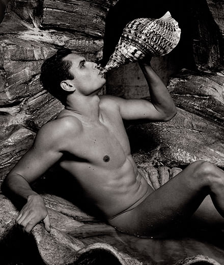 French olympic swimmer Florent Manaudou photographed by Karl Lagerfeld