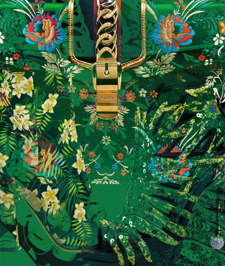 Les accessoires jungle signés Gucci, Roger Vivier et Gianvito Rossi