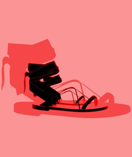 L'objet fétiche : la sandale à lanières Valentino