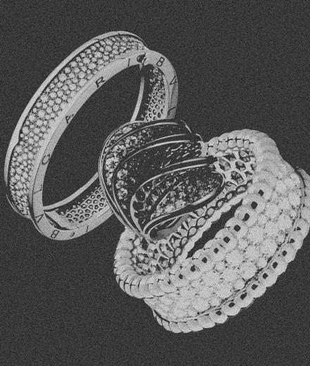 La joaillerie en or de Bulgari, Cartier, Van Cleef & Arpels