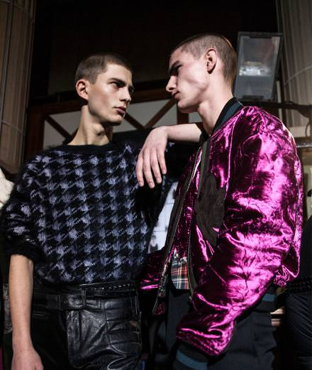 Backstage : Haider Ackermann autumn-winter 2017 runway show seen by Mehdi Mendas