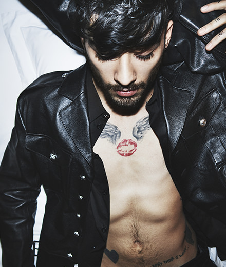 Gigi Hadid photographs Zayn Malik for Versus Versace