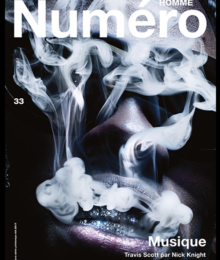 Exclusive: Travis Scott by Nick Knight on the cover of Numero Homme Musique