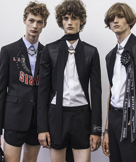 Backstage : le défilé Dior Homme printemps-été 2018 vu par Mehdi Mendas