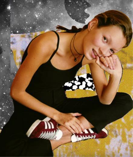 Kate Moss détournée par Bessnyc pour Adidas Originals