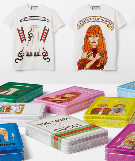 Who is Angelica Hicks, the illustrator working with Gucci?