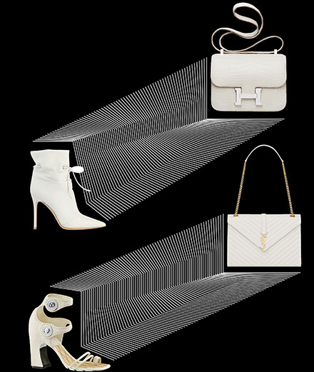 The white glow of summer accessories