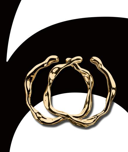 """Les boucles d'oreilles """"Nougat"""" <br> en or jaune de Dior Joaillerie"""