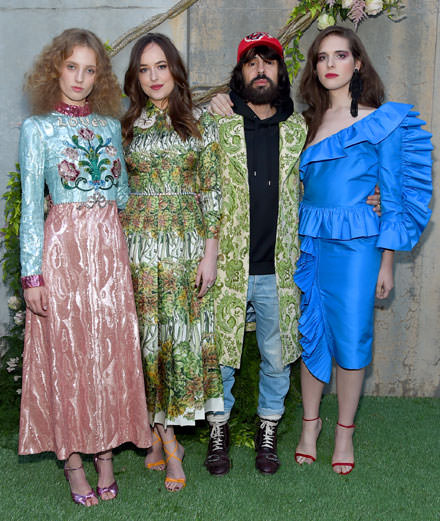 "Which celebrities were partying at the Gucci ""Bloom"" launch do?"