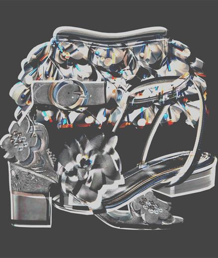 Les accessoires à fleurs en relief signés Lanvin, Miu Miu et Roger Vivier