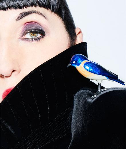 """Rossy de Palma égérie joaillerie pour """"The Portable Art Project"""" à la galerie Hauser & WIrth"""