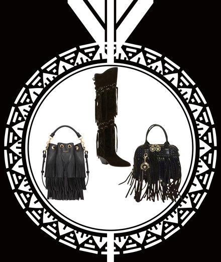 Folk, rock and glamour accessories are a must for the summer