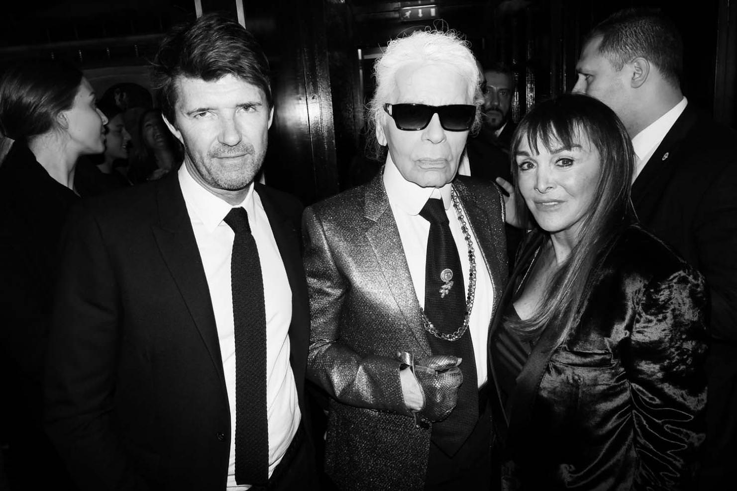 Paul-Emmanuel Reiffers, Karl Lagerfeld and Babeth Djian
