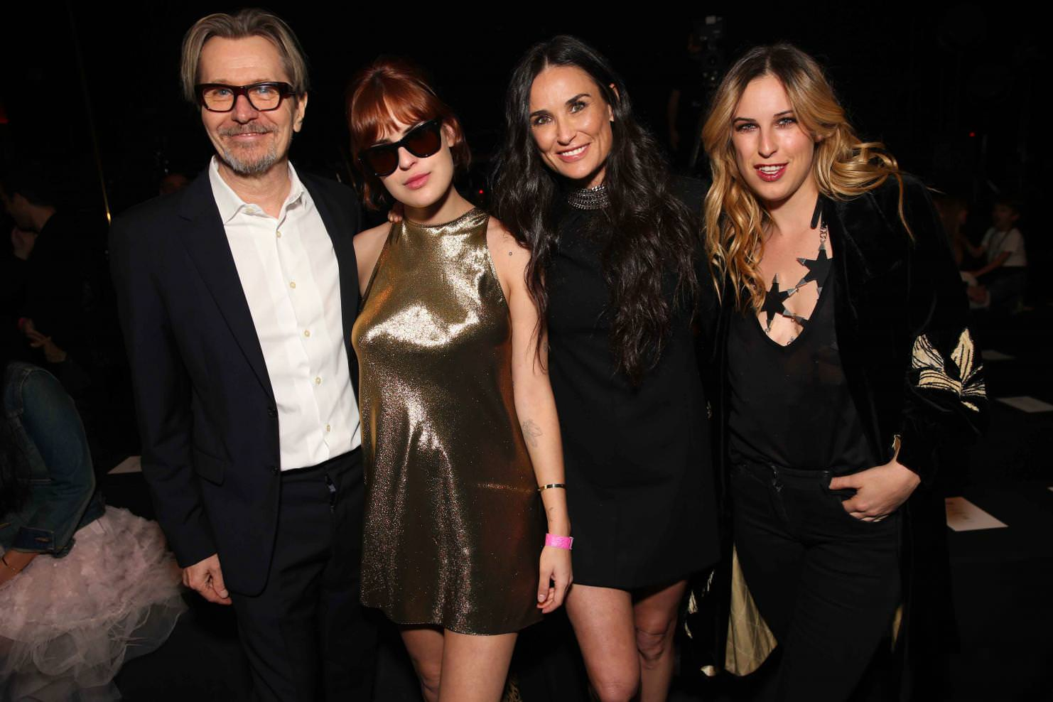 Gary Oldman, Rumer Willis, Demi moore and Scout Larue Willis