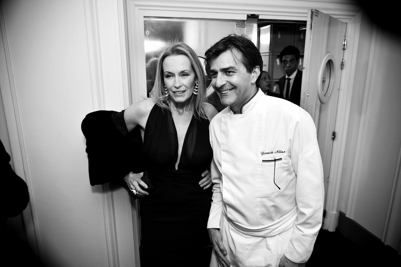 Yannick Alléno et Estelle Lefébure - Photo : SayWho / Jean Picon