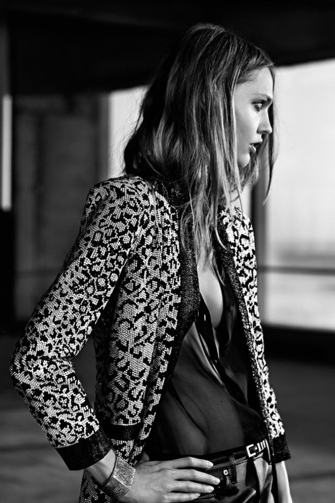 Sasha Pivovarova, Saint Laurent Paris resort 2014