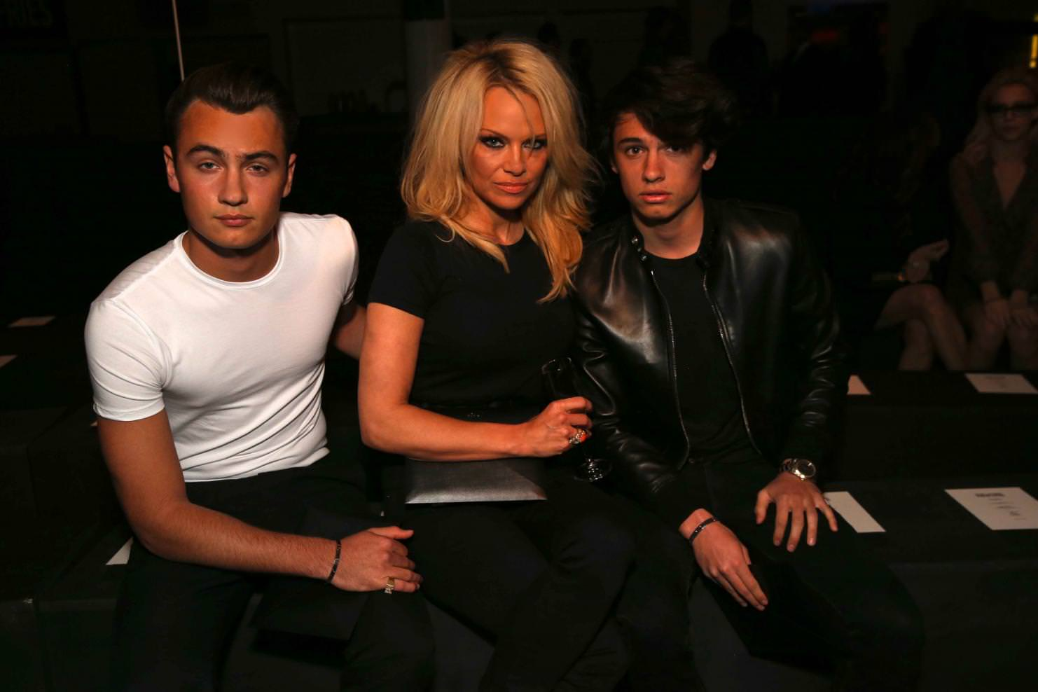 Pamela Anderson, Brandon and Dylan Lee