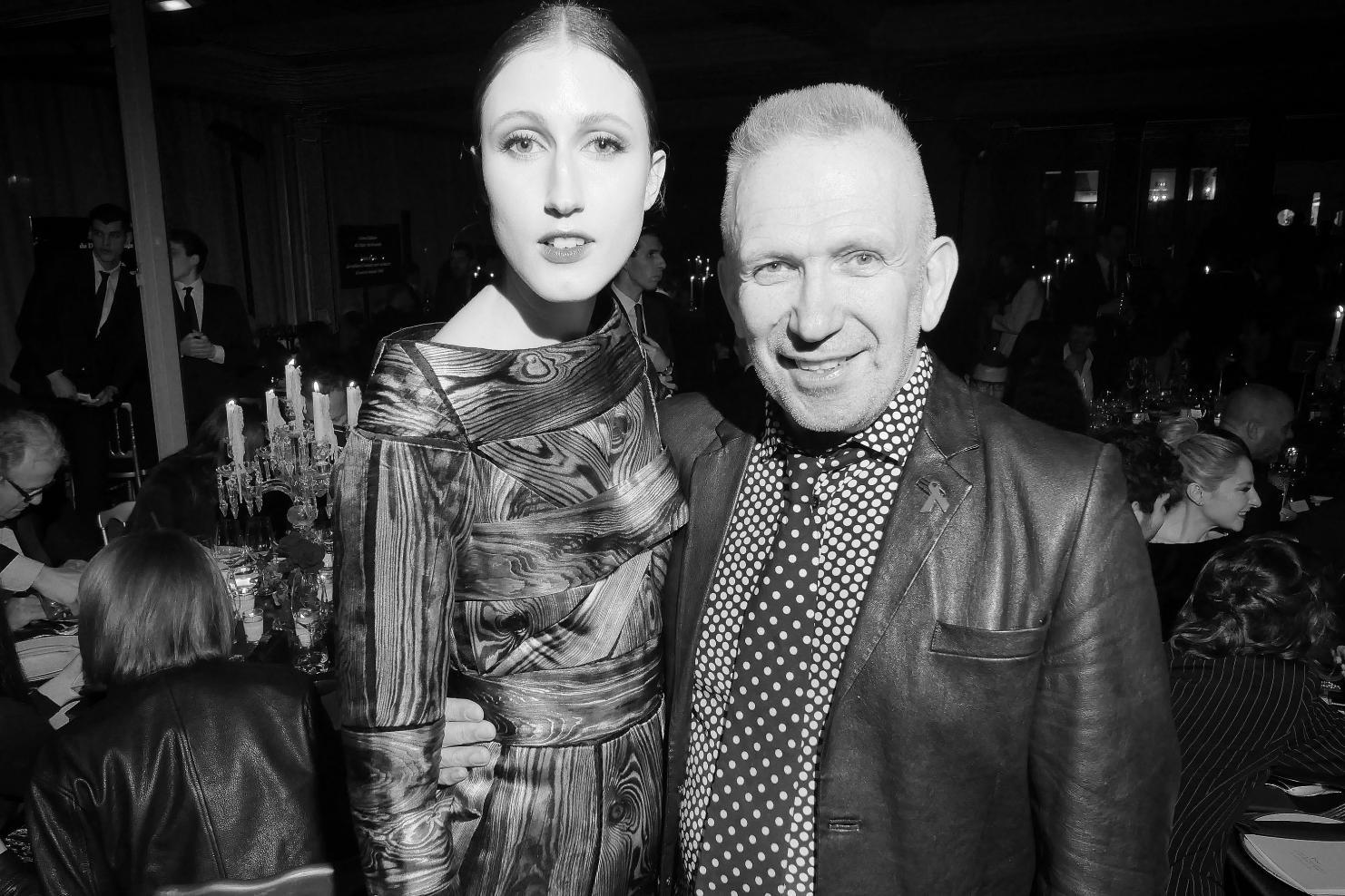 Anna Cleveland et Jean Paul Gaultier