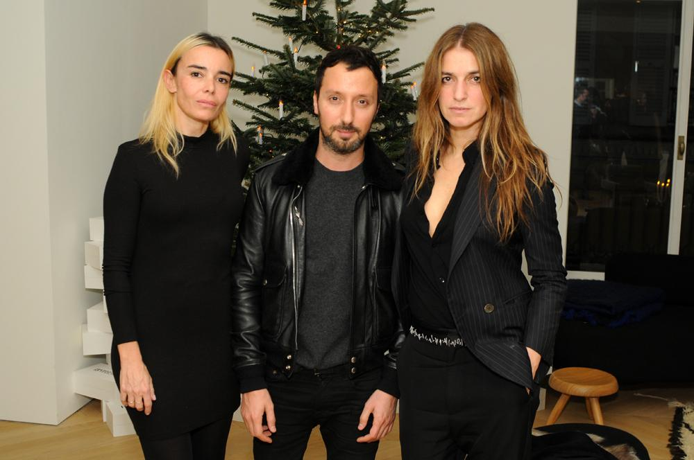 Elodie Bouchez, Anthony Vaccarello and Joana Preiss