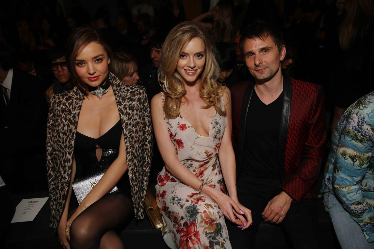 Miranda Kerr, Elle Evans and Matthew Bellamy
