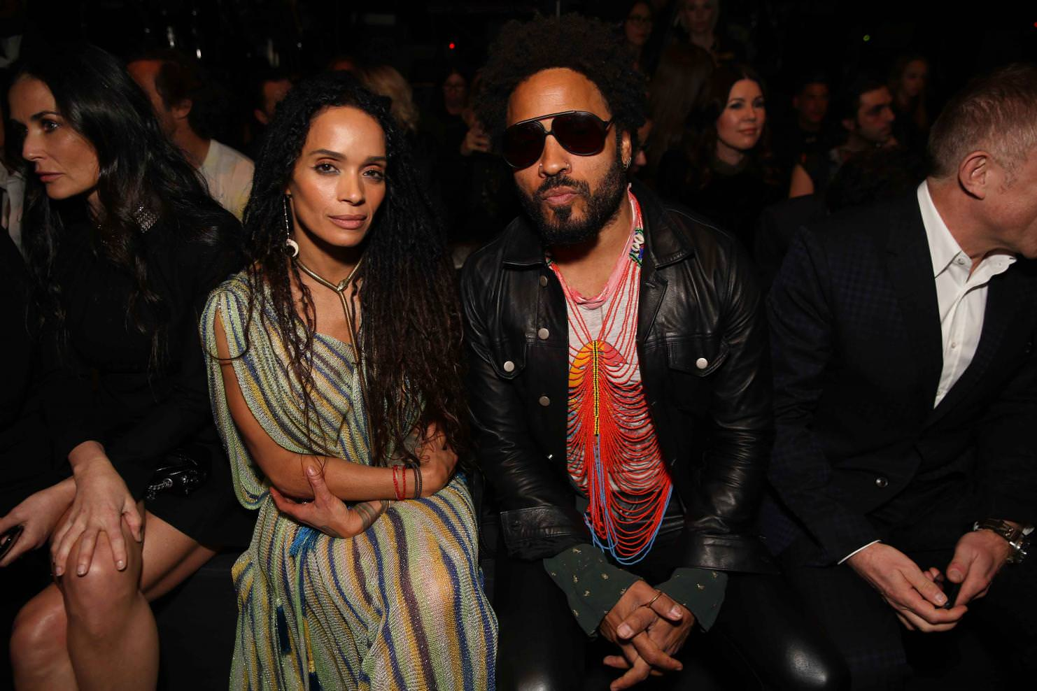 Lisa Bonnet and Lenny Kravitz