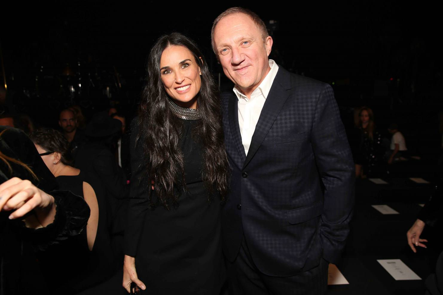 Demi Moore and François Henry Pinault