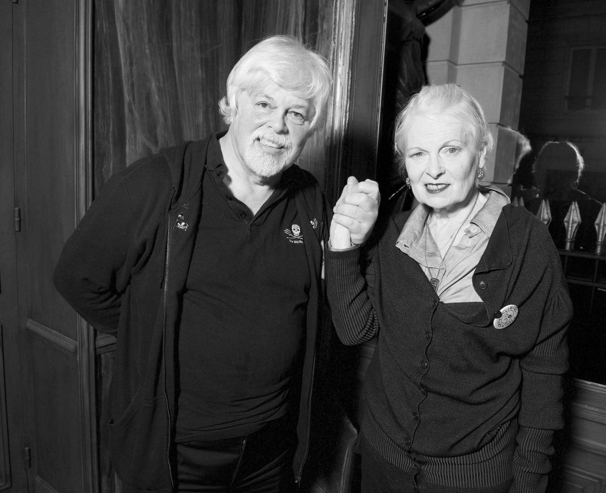 Paul Watson and Vivienne Westwood