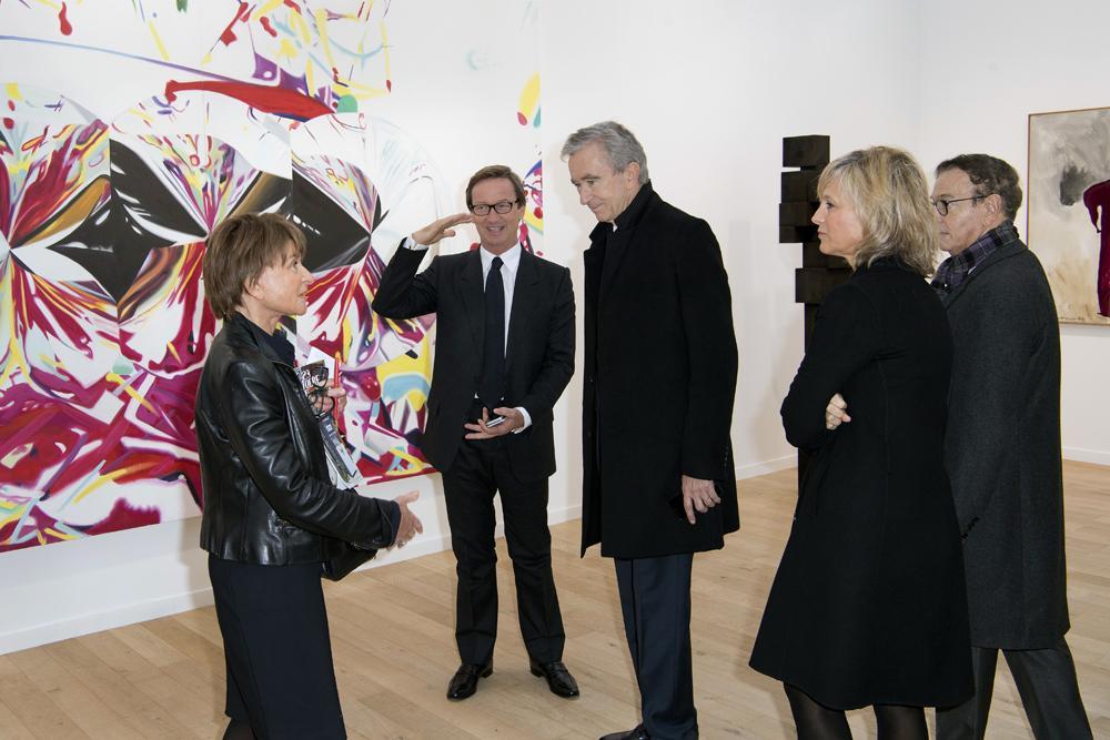 Suzanne Pagé, Thaddaeus Ropac, Bernard Arnault, Hélène Arnault et Jean-Paul Claverie
