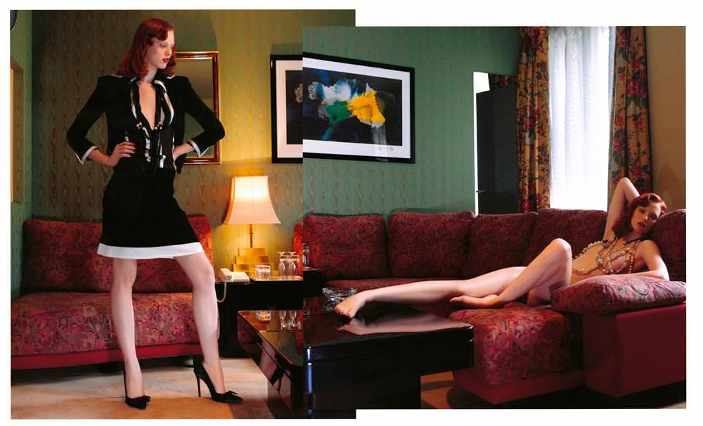 Karen Elson photographiée par Jean-Baptiste Mondino pour le Numéro Charnel juin 2003