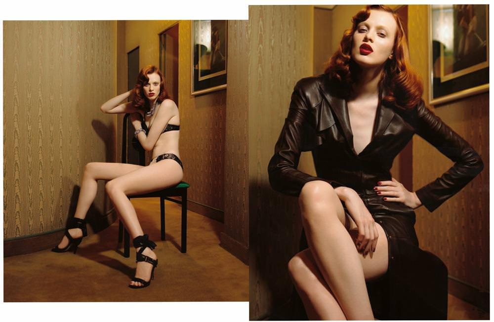 Karen Elson photographed by Jean-Baptiste Mondino for Numéro Charnel June 2003