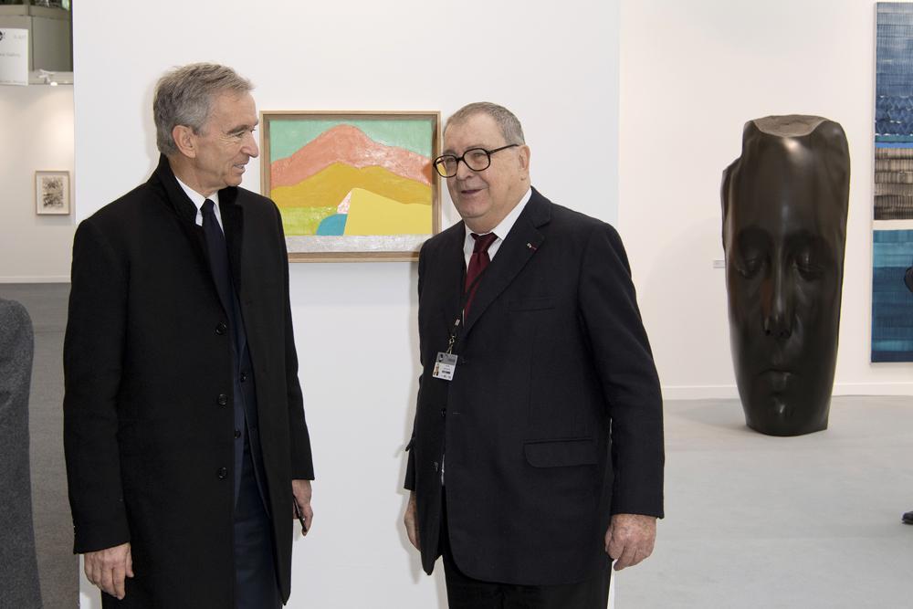Bernard Arnault et Daniel Lelong