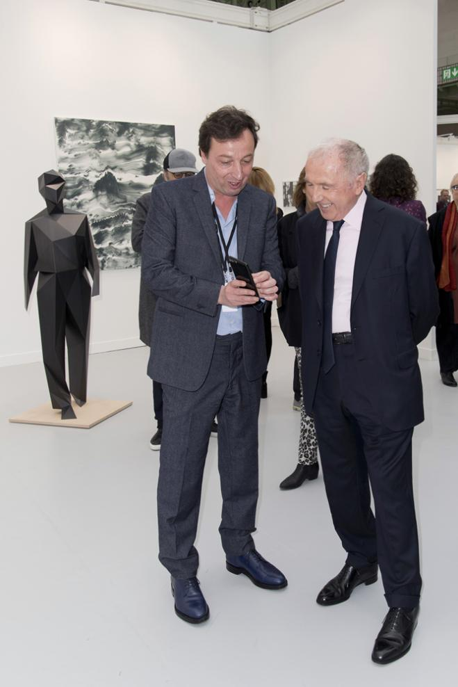 François Pinault et Emmanuel Perrotin
