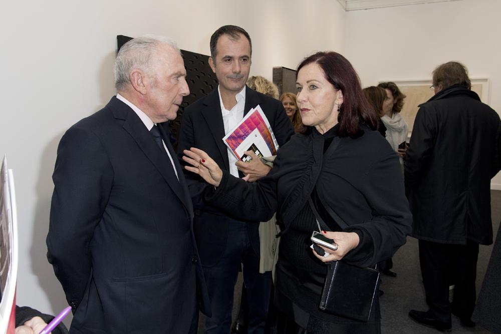 François Pinault, Martin Bethenod et Jennifer Flay