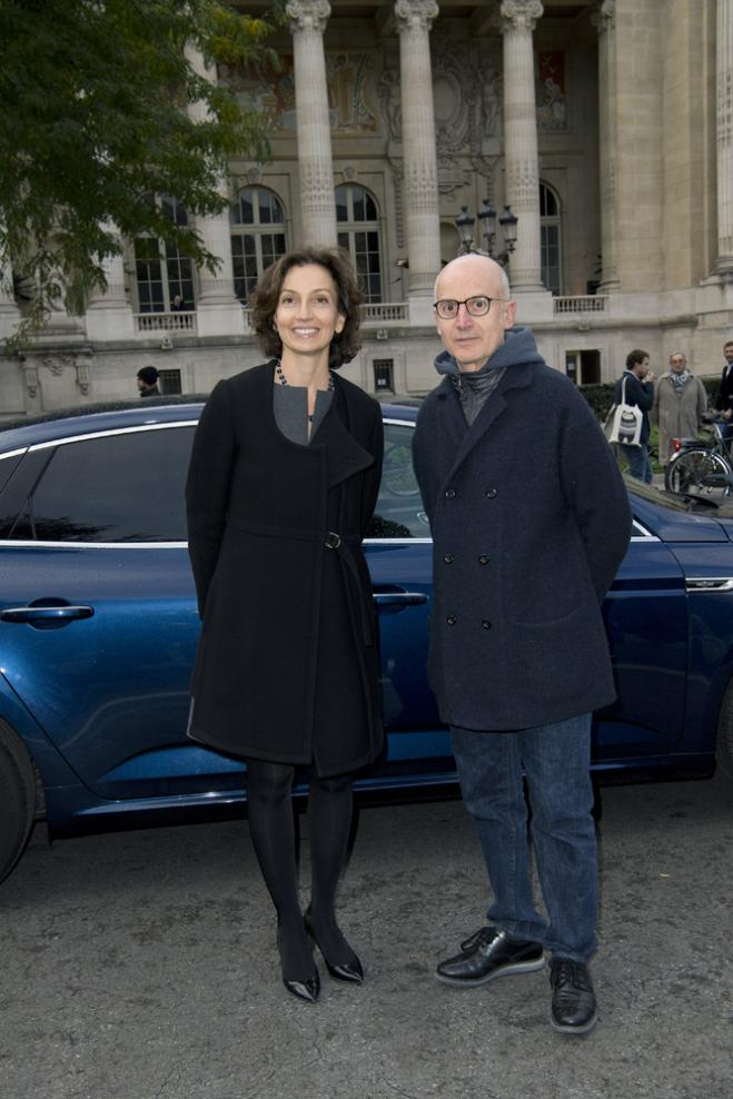 Audrey Azoulay et Ange Leccia