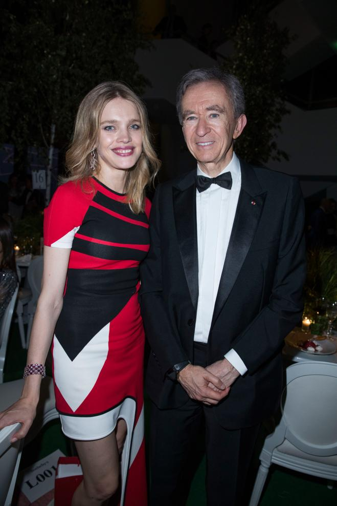 Natalia Vodianova et Bernard Arnault