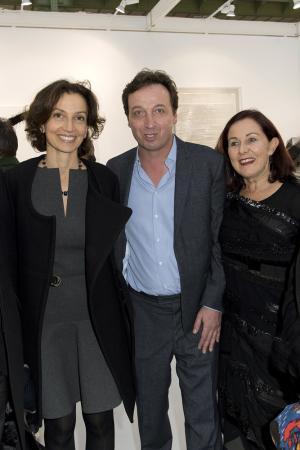 Audrey Azoulay, Emmanuel Perrotin et Jennifer Flay