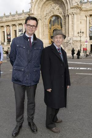 Christophe Leribault et Jacques Villeglé